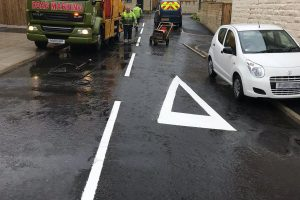 Line Marking in Tickhill